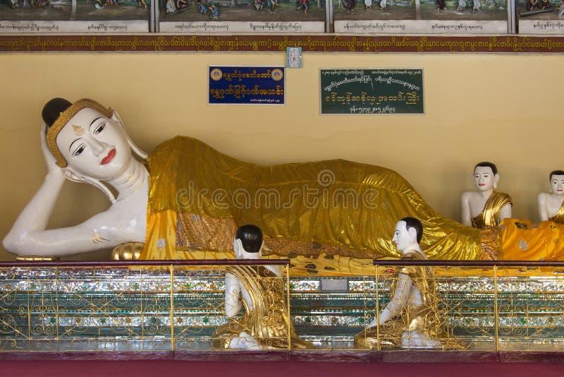 Composé de pagoda de Shwedagon - Yangon - Myanmar image libre de droits