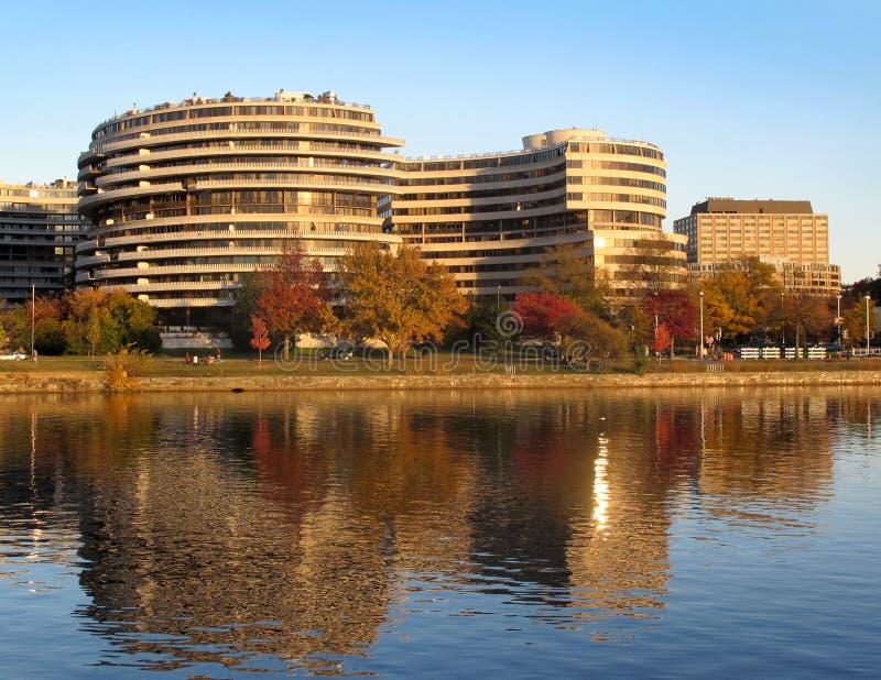 Composé de Watergate - vue de fleuve Potomac image libre de droits