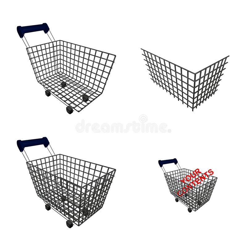 Composable shopping cart vector illustration