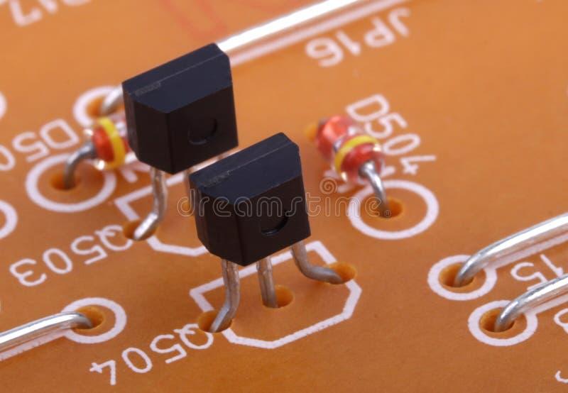 Composants électroniques image stock