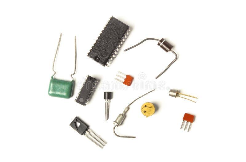 Composants électroniques de semi-conducteur photo libre de droits