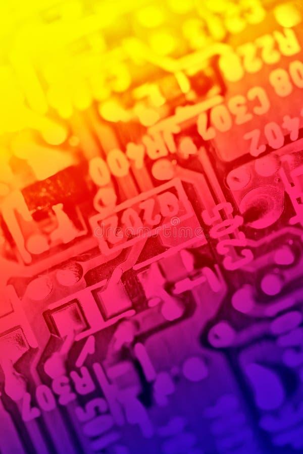 Composants électroniques multicolores photos libres de droits