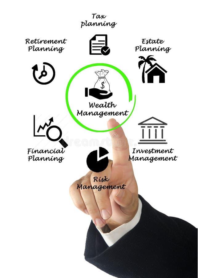 Composants de gestion de richesse photo libre de droits