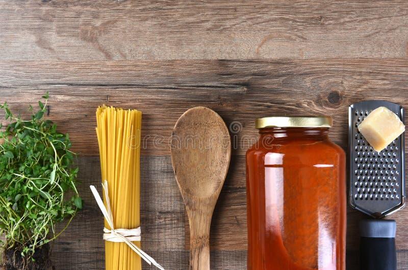 Composants italiens de repas photos libres de droits