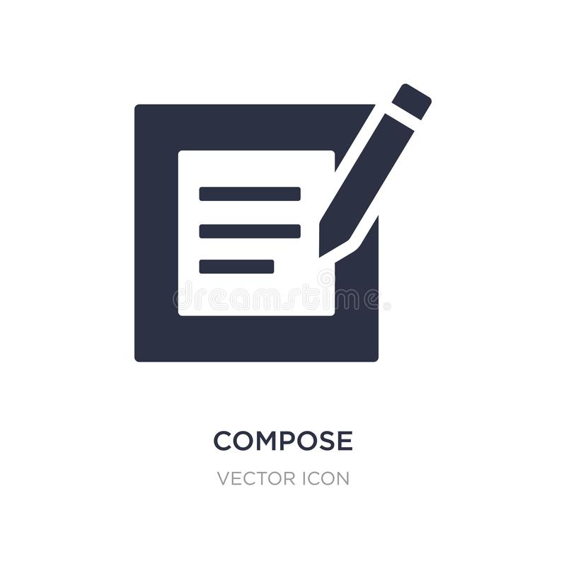 Compose icon on white background. Simple element illustration from UI concept. Compose sign icon symbol design vector illustration