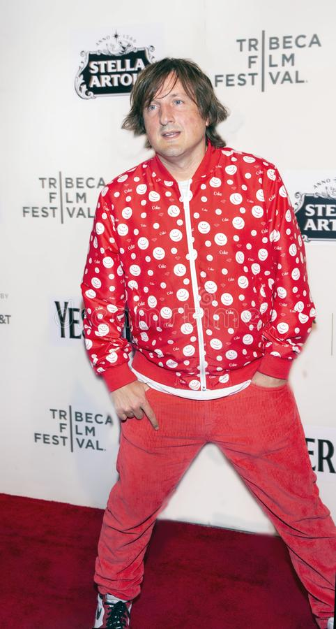 Daniel Pemberton at the World Premiere of `Yesterday` at the Closing Night Gala of the 2019 Tribeca Film Festival. Composer Daniel Pemberton arrives at the stock photos