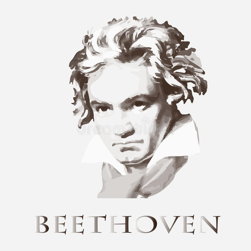 Composer Ludwig van Beethoven background cards fashion good like portrait some use vector διανυσματική απεικόνιση