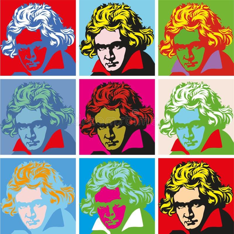 Portrait of Beethoven Portraits of famous historical figure stock photo
