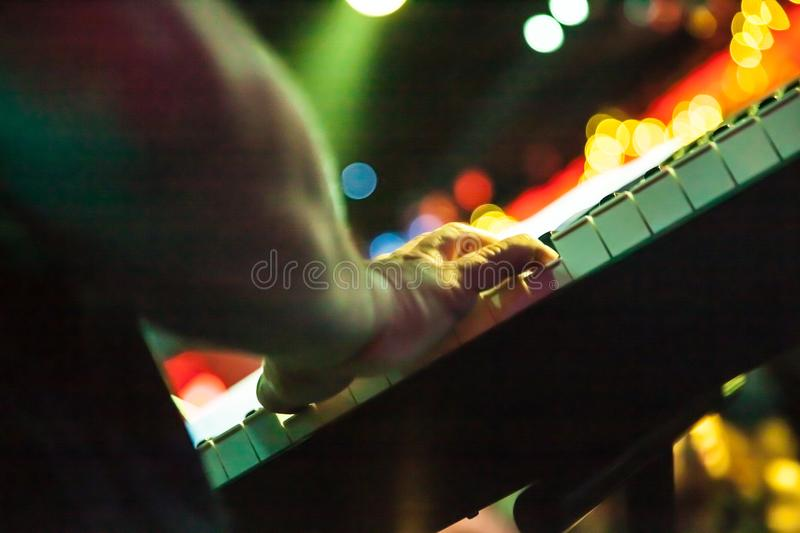 Composer playing piano royalty free stock photography