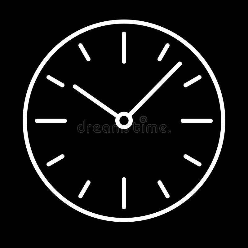 Download Composez La Découpe Blanche D'icône D'horloge De Commutateurs Sur Le Fond Noir De Illustration Stock - Illustration du minute, heure: 87708957