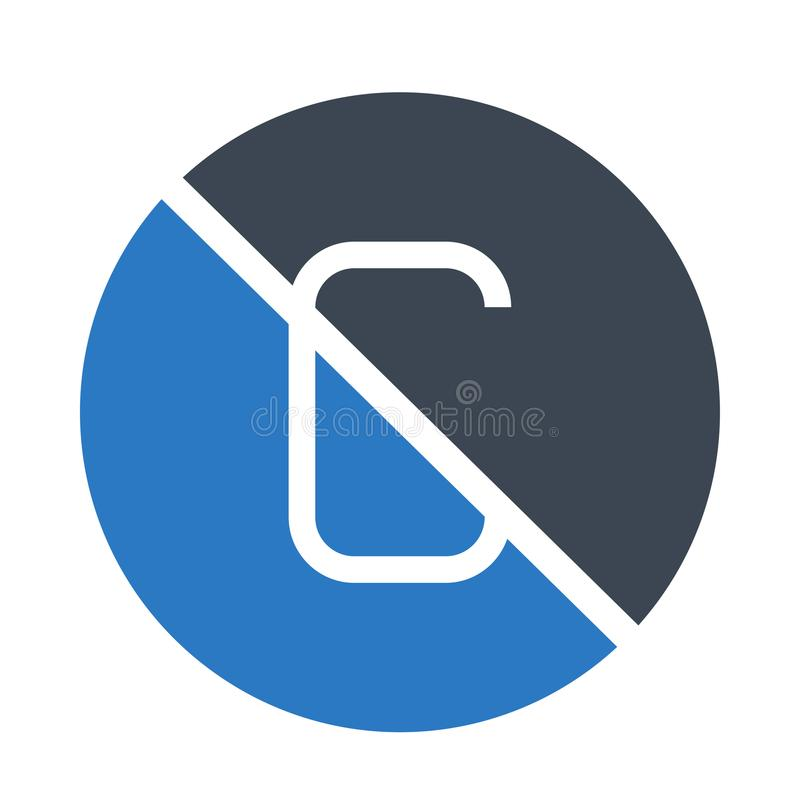Composez la double icône de couleur de glyphs illustration libre de droits