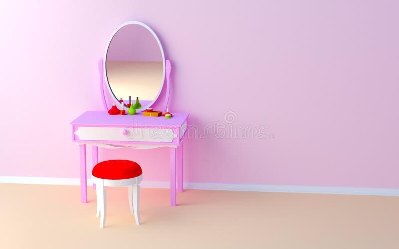 Composez la table au mur illustration stock