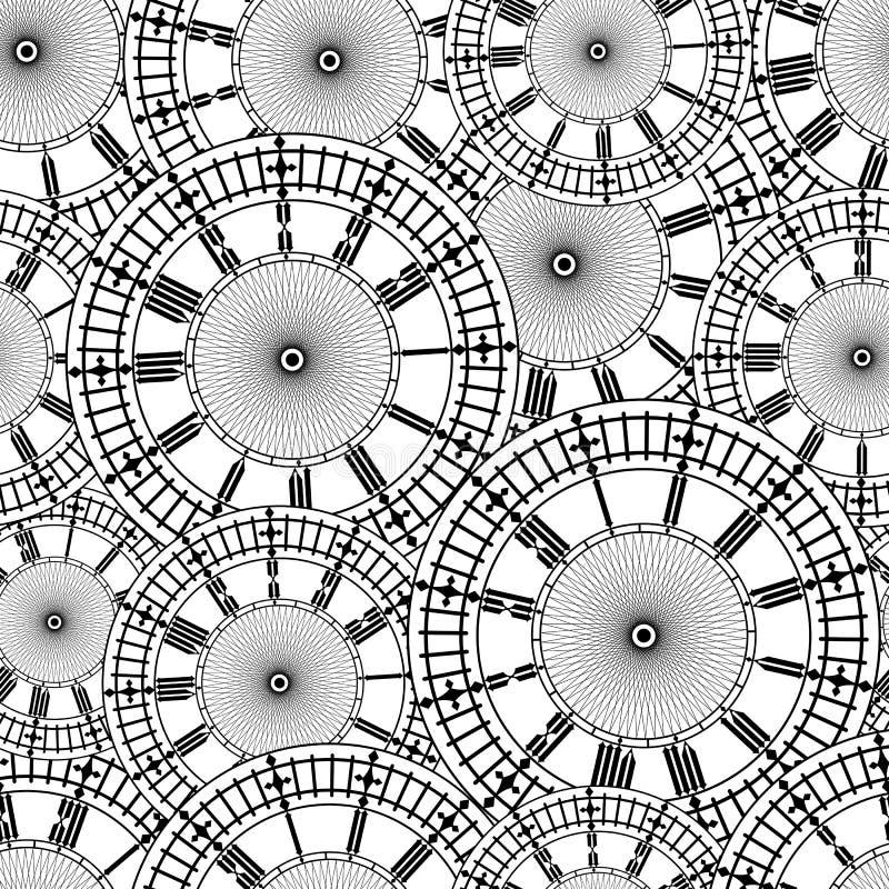 Composez la vieille horloge illustration de vecteur