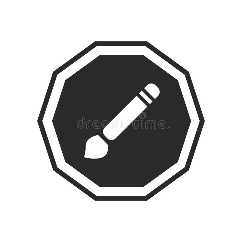 Composez le signe et le symbole de vecteur d'icône d'isolement sur le fond blanc illustration de vecteur