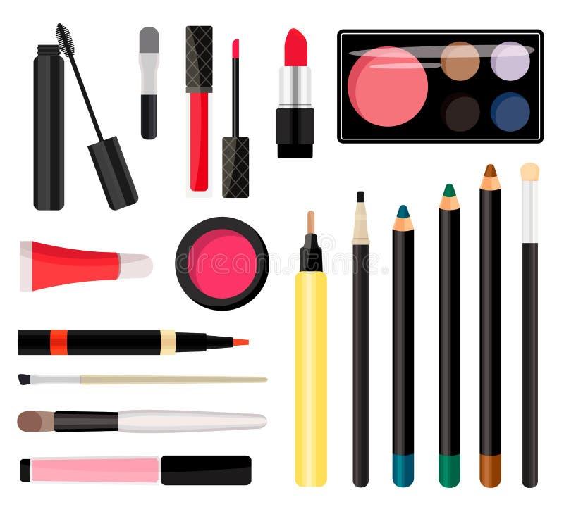 Composez les cosmétiques Illustration de vecteur Style plat illustration de vecteur