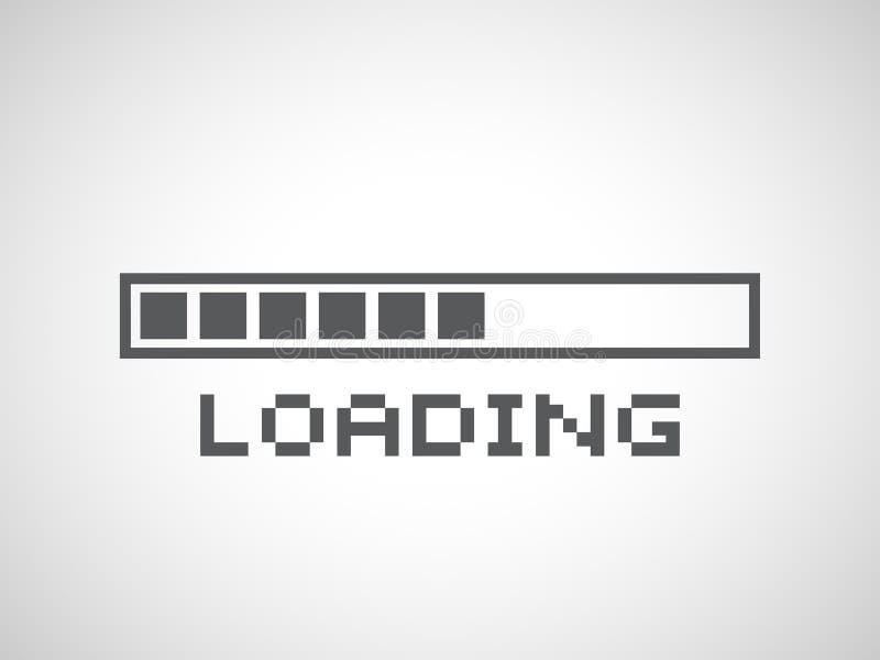 Composição abstrata Ícone do elemento da barra de carga ilustração stock