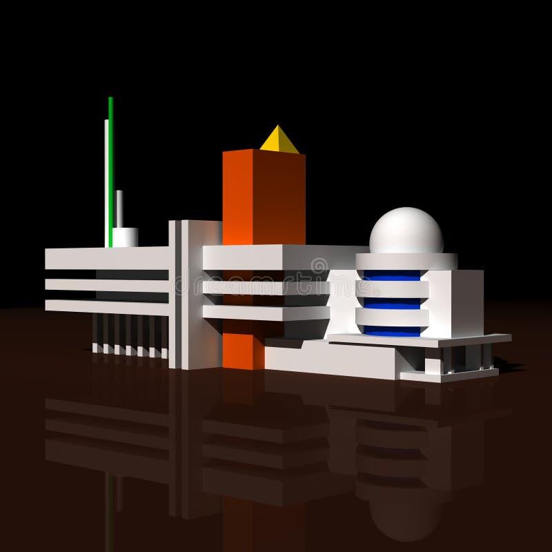 Composição abstrata arquitectónica. fotografia de stock