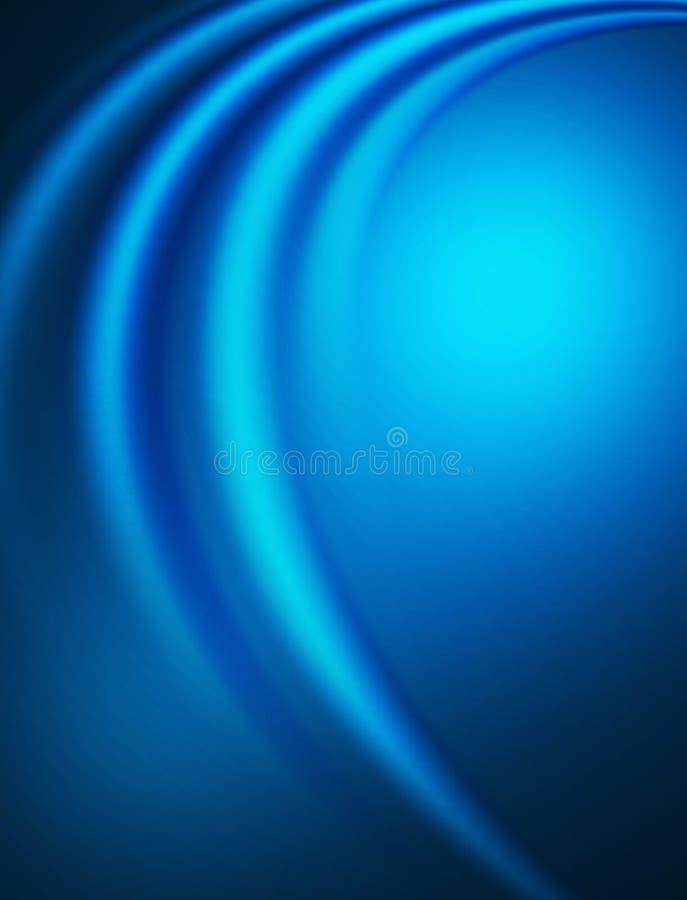 Composição abstrata azul ilustração royalty free