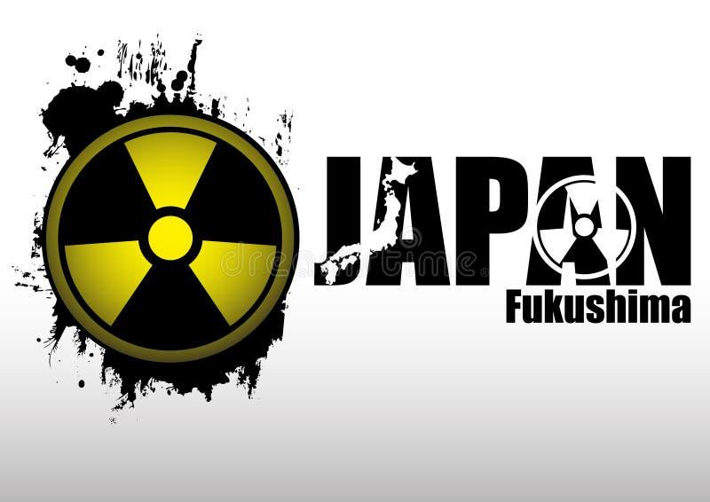 Composição abstrata - conceito. Radiação em Japão ilustração do vetor