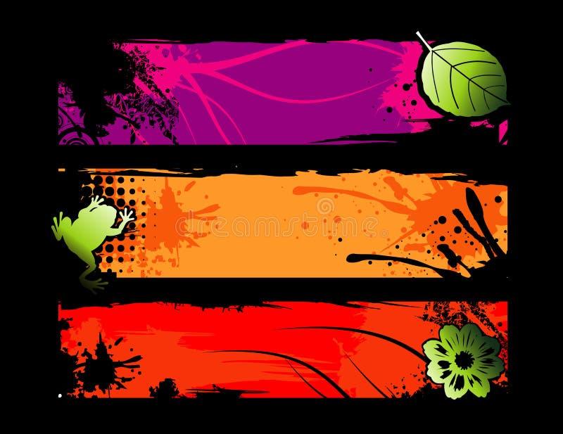 Composição abstrata de Natura ilustração stock