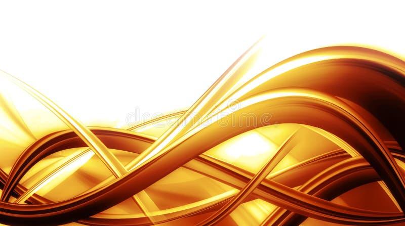 Composição abstrata do fundo com cor alaranjada ilustração stock