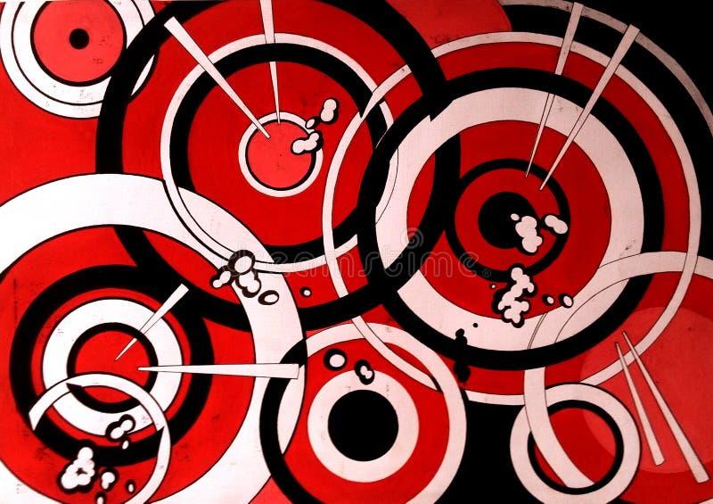 Composição abstrata do projeto do fundo do projeto gráfico com os círculos vermelhos ilustração do vetor