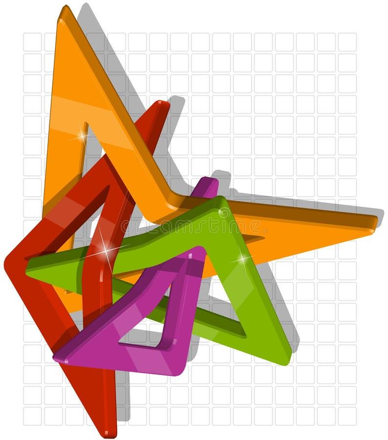 Composição abstrata dos módulos plásticos ilustração stock