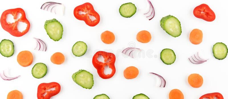 Composição abstrata dos vegetais Teste padrão vegetal Parte traseira do alimento fotografia de stock