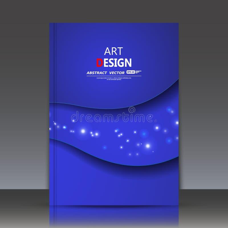 Composição abstrata, folha do título do folheto a4, tema cósmico, constelação da estrela, ícone do espaço, contexto da construção ilustração stock