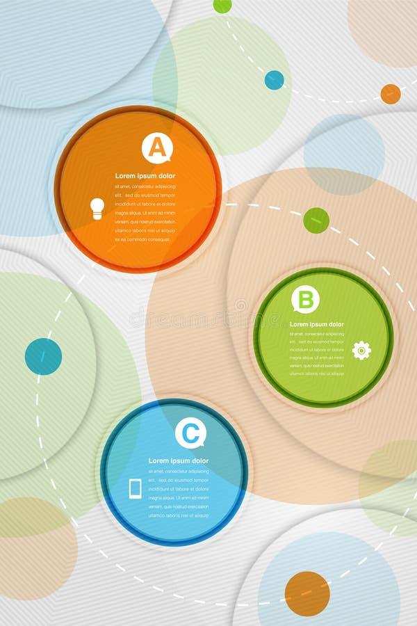Composição abstrata moderna dos círculos coloridos com espaço para o texto ilustração stock
