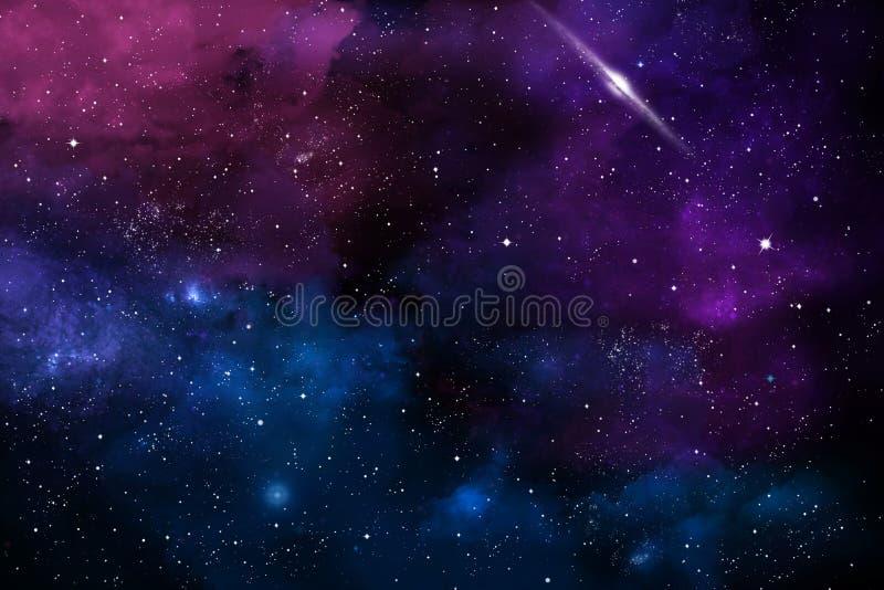 Composição abstrata no assunto do cosmos das texturas nebulosos, das luzes e dos inclinações a servir como o fundo imagens de stock royalty free