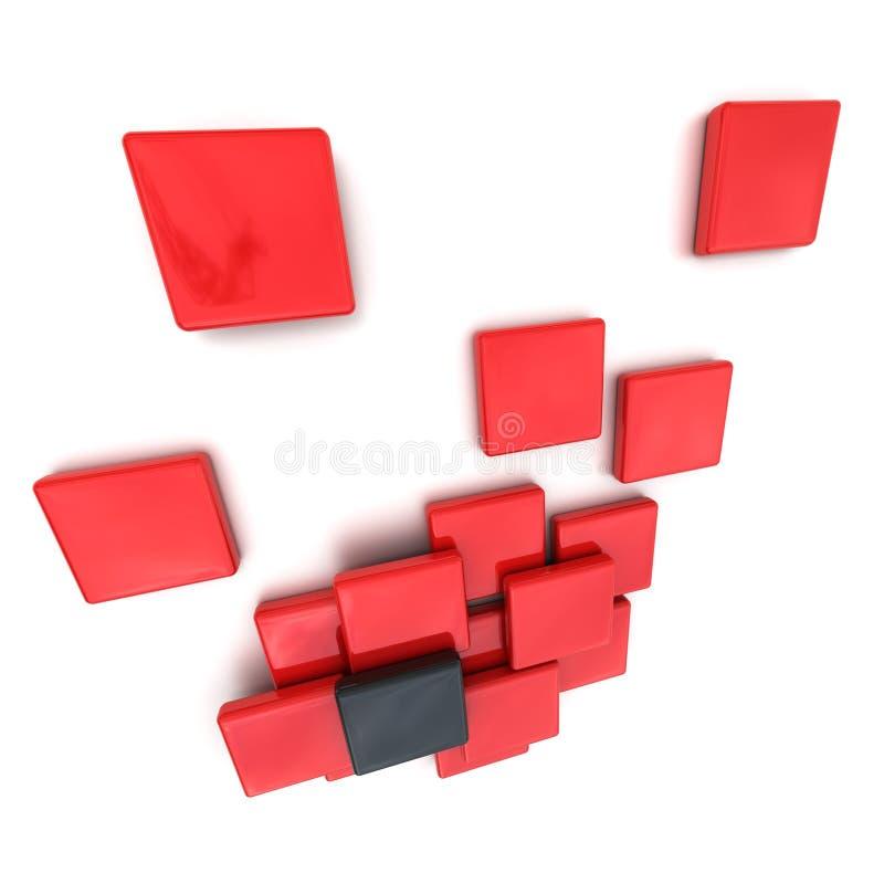 Composição abstrata no vermelho e no preto foto de stock