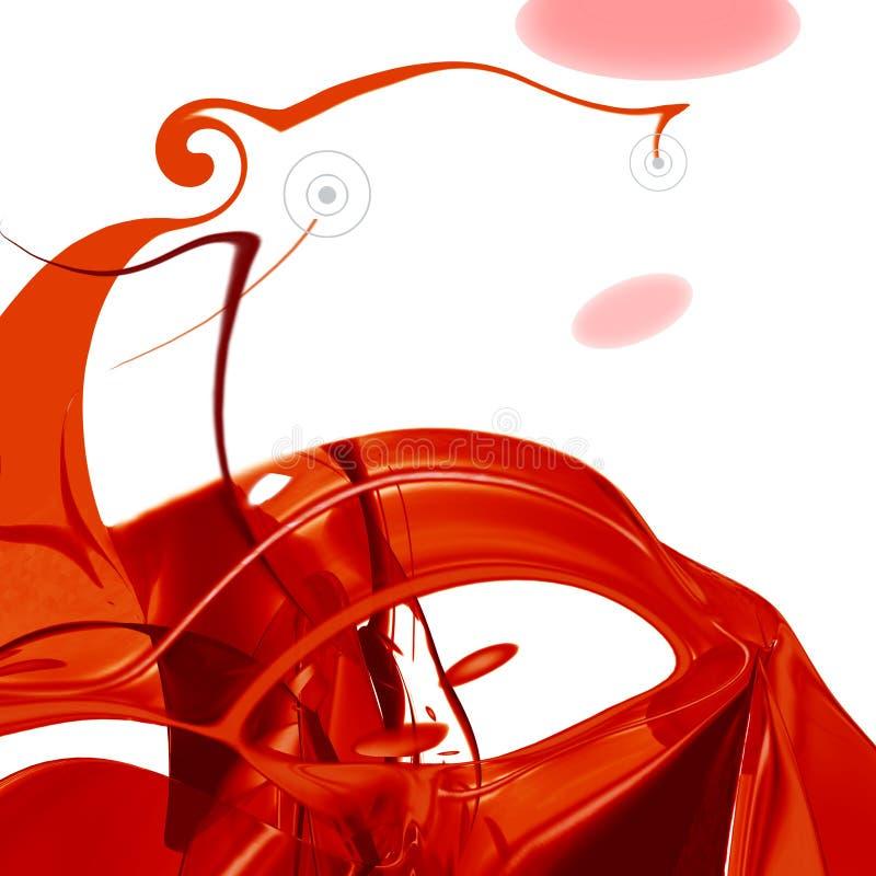 Composição abstrata vermelha ilustração royalty free