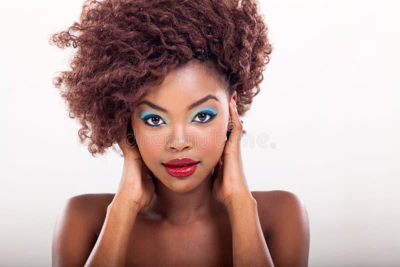 Composição afro-americano da mulher imagem de stock
