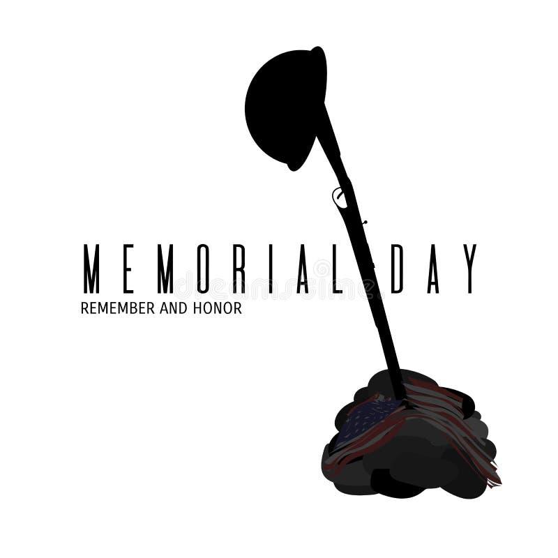 Composição americana do Memorial Day ilustração royalty free
