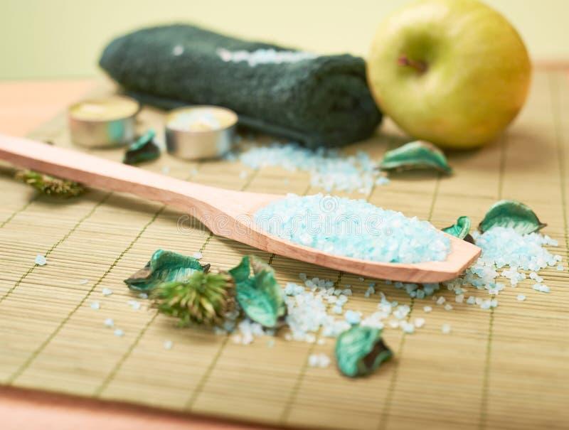 Composição aromática de sal imagem de stock