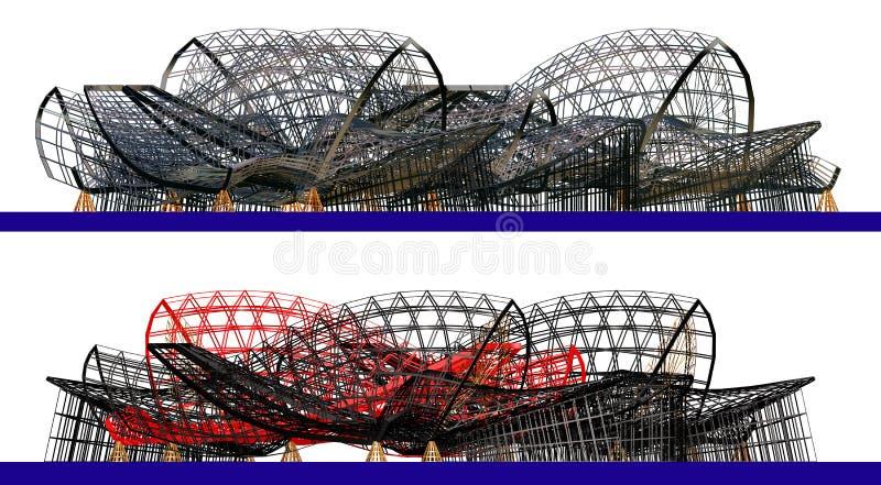 Composição arquitectónica do sumário 3d fotografia de stock