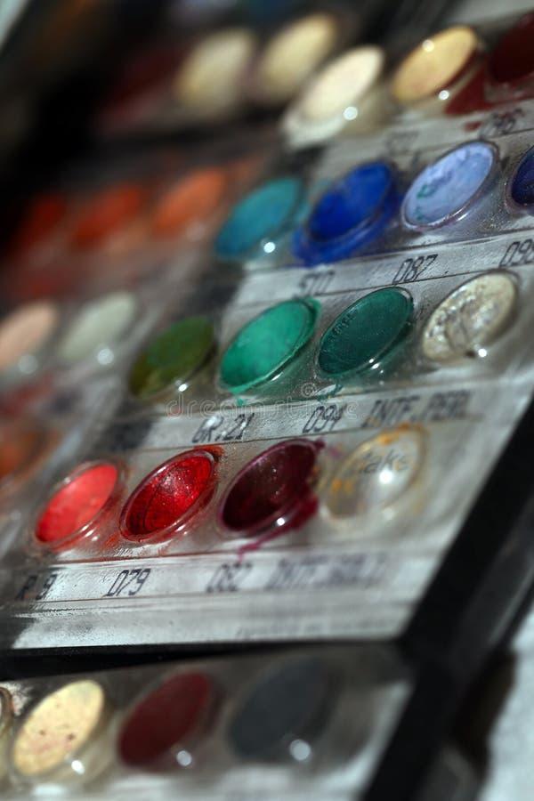 Composição Art Cosmetics Paint Brush Tools foto de stock royalty free