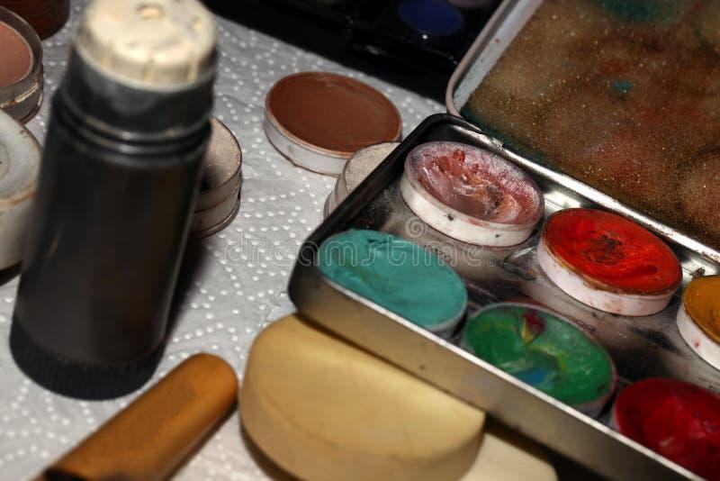 Composição Art Cosmetics Paint Brush Tools imagem de stock royalty free