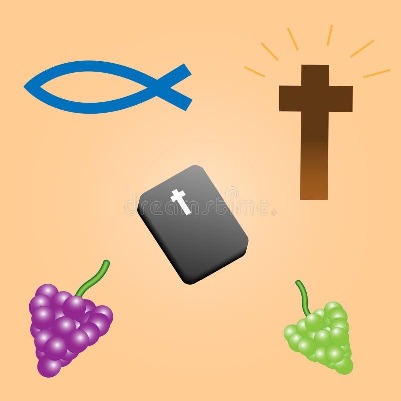 Composição bíblica em um fundo bege ilustração royalty free