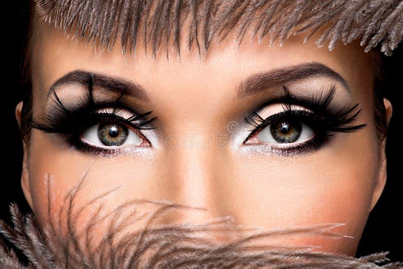 Composição bonita do olho fotografia de stock