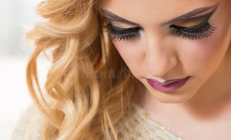 Composição bonita dos olhos fotos de stock royalty free