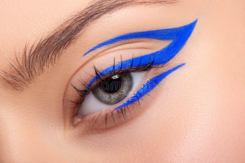 Composição bonita e colorida do olho imagens de stock