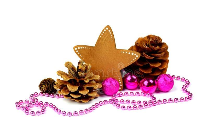 Composição brilhante do Natal/isolado/ Estilo rústico naughty imagem de stock