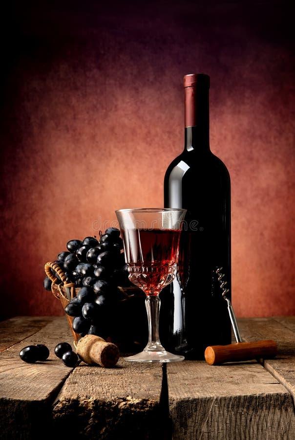 Composição brilhante do vinho fotografia de stock