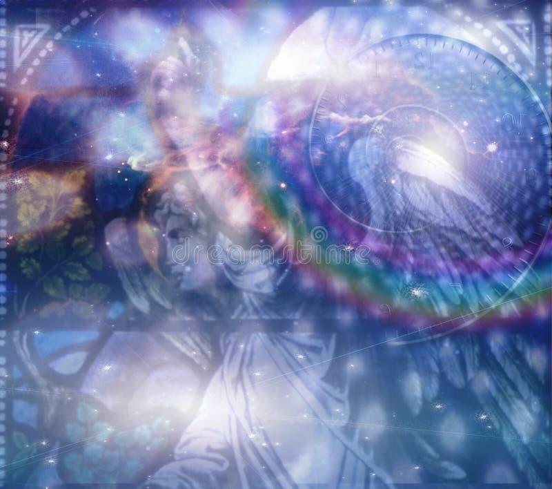 Composição celestial do anjo ilustração royalty free