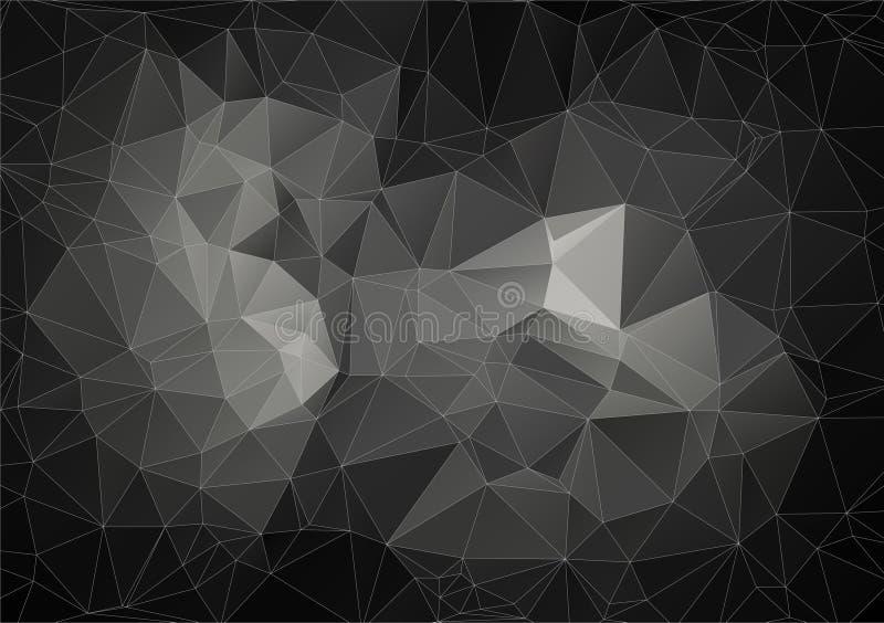 Composição cinzenta com formas geométricas dos triângulos ilustração do vetor