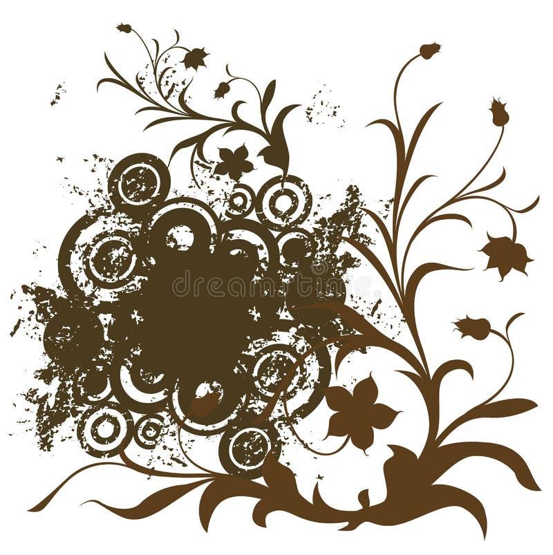 Composição com flores ilustração stock