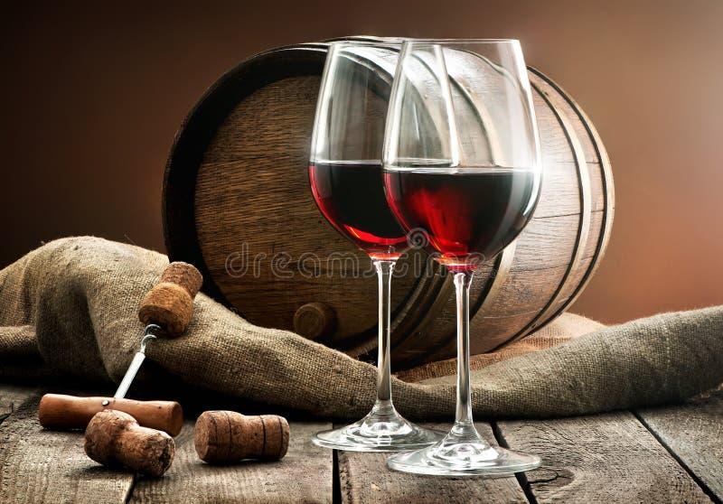 Composição com vinho foto de stock