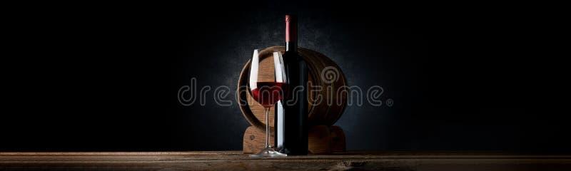 Composição com vinho foto de stock royalty free